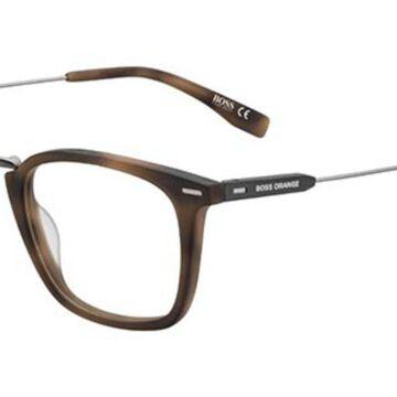 Boss Orange BO 0327 HGC Men's Glasses Brown Size 50 - Free Lenses - HSA/FSA Insurance - Blue Light Block Available