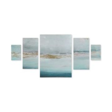 Madison Park Glistening Gold Marble 5-Pc. Gel-Coated Canvas Print Set with Gold-Tone Foil