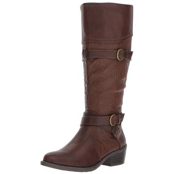 Easy Street Womens Kelsa Almond Toe Knee High Fashion