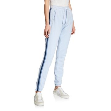 Side-Stripe French Terry Pull-On Sweatpants
