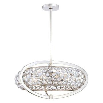 Metropolitan Magique 8-Light Drum Pendant, Polished Nickel