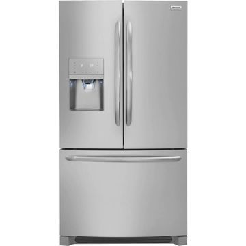 Frigidaire Gallery 21.7-cu ft Counter-depth French Door Refrigerator with Dual Ice Maker (Smudge-Proof Stainless Steel) ENERGY STAR