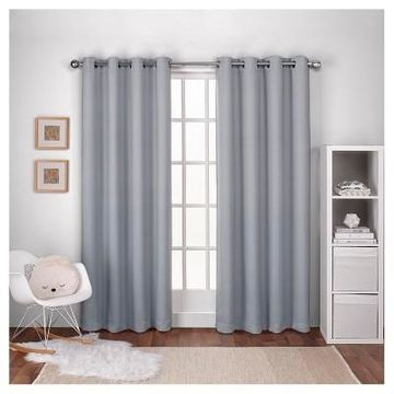 Woven Blackout Curtain Panel - Exclusive Home