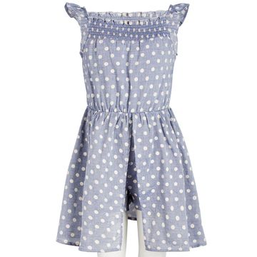 Little Girls Dot-Print Skort Romper, Created for Macy's