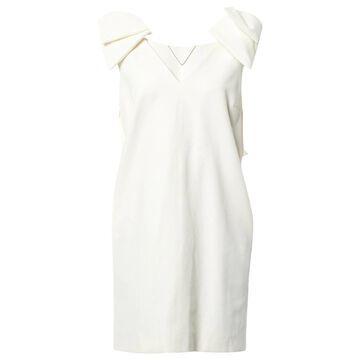 Msgm Ecru Cotton Dresses