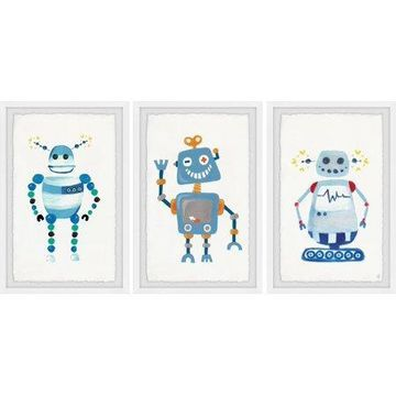 Marmont Hill Happy Robot Triptych