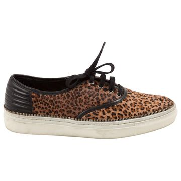 The Kooples Brown Pony-style calfskin Trainers