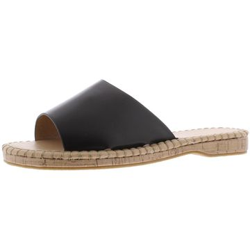 Report Womens Farrel Faux Leather Casual Slides
