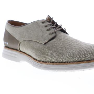 GBX Hammon Mens Gray Canvas Casual Lace Up Oxfords Shoes