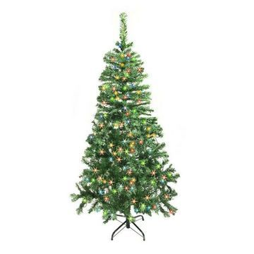 ALEKO Christmas Tree with Multicolored lights Light green Color 7.5 Ft