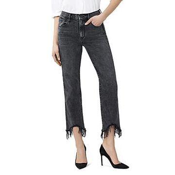 3x1 Austin Crop Fray Straight-Leg Jeans in Rush