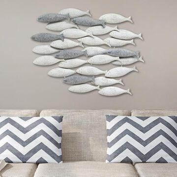 Stratton Home Decor Metal School Of Fish Wall Decor