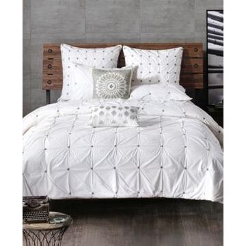 Ink+Ivy Masie Embroidered Ruched King Comforter Mini Set Bedding