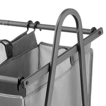 Whitmor Arch Triple Laundry Sorter, Black, HAMPER