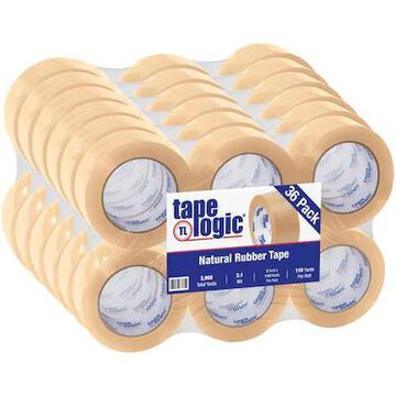 Tape Logic #53 PVC Natural Rubber Tape, 2.1 Mil, 2 x 110 yds, Clear, 36/Case | Quill