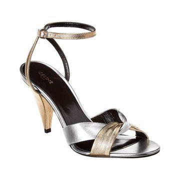 Celine Triangle Heel Leather Sandal - 36AO