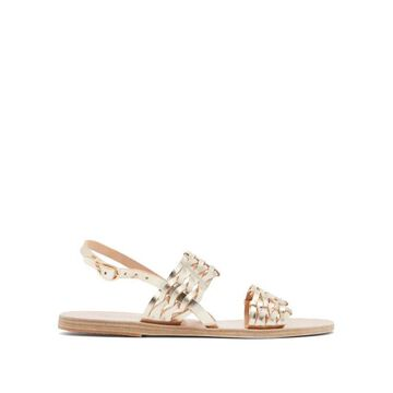 Ancient Greek Sandals - Dinami Slingback Woven-leather Sandals - Womens - Gold