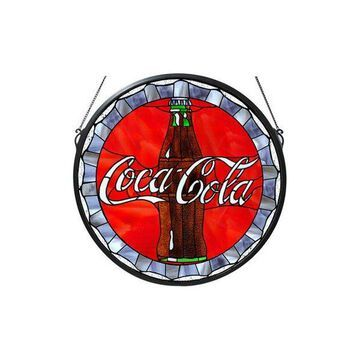 Meyda Tiffany 106225 Coca-Cola Stained Glass Bottle Cap Medallion