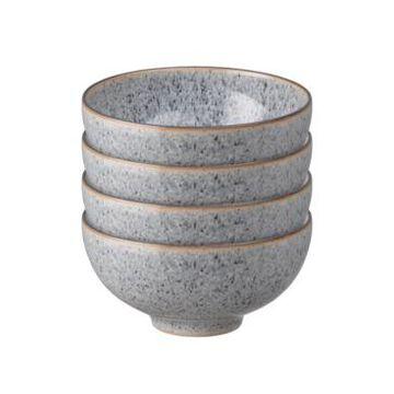 Denby Studio Craft Grey 4 Piece Rice Bowl Set
