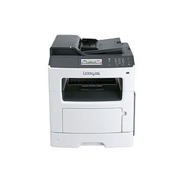 Lexmark MX410DE Laser Multifunction Printer - Monochrome - Plain Paper Print - Desktop - Copier/Fax/Printer/Scanner - 38 ppm Mono Print - 1200 x 1200