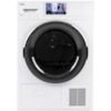 Haier Smart 4.1-cu ft Stackable Ventless Electric Dryer (White) ENERGY STAR