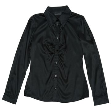 Emporio Armani Black Silk Tops