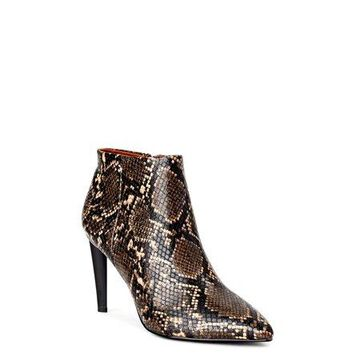 Kendall + Kylie Renza Snake Print Stiletto Bootie (Women's)