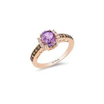 Le Vian Chocolatier Diamond, Amethyst & 14K Rose Gold Ring