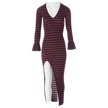 Pinko Purple Wool Dresses