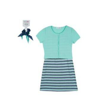 Beautees Big Girls 4 Piece Dress Set