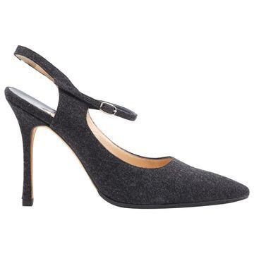 Manolo Blahnik Grey Cloth Heels