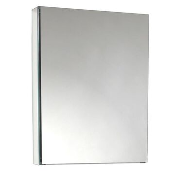 Fresca 19.5-in x 26-in Surface/Recessed Gray Mirrored Rectangle Medicine Cabinet