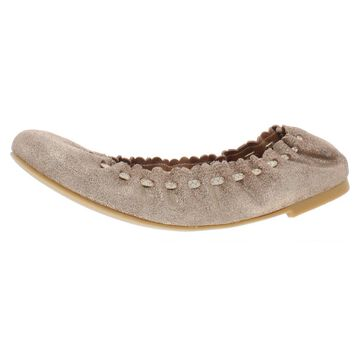 See by Chloe Womens Jane Leather Lace Ballet Flats