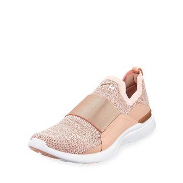 Techloom Bliss Metallic Knit Slip-On Running Sneakers