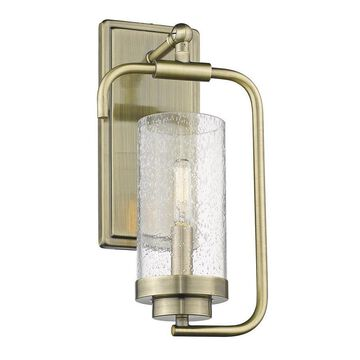 Golden Lighting Holden 7-in W 1-Light Aged Brass Transitional Wall Sconce