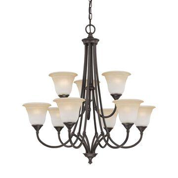 Thomas Lighting Harmony 9-Light Aged Bronze Transitional Chandelier   SL880262
