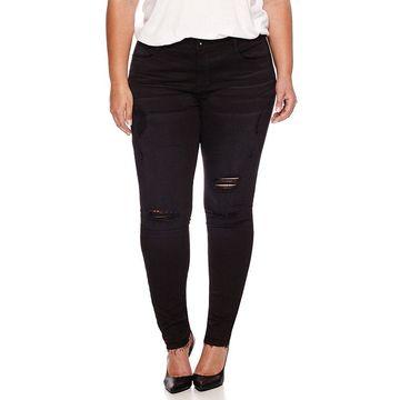 Boutique+ 5-Pocket Destructed Skinny Jeans 29