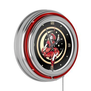 Trademark Gameroom Clocks Analog Round Wall Clock in Chrome