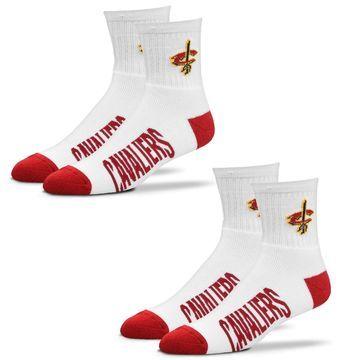 Cleveland Cavaliers For Bare Feet Women's 2-Pack Quarter-Length Socks