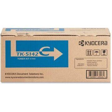 Kyocera, KYOTK5142C, TK-5142 Toner Cartridge, 1 Each