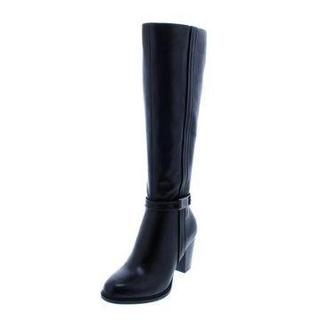 Giani Bernini Womens Raiven2 Leather Knee-High Riding Boots