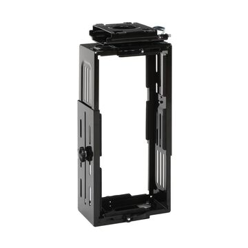 OFM Essentials Collection Adjustable Under Desk and Wall Mount Computer CPU Holder, in Black (ESS-8900-BLK)