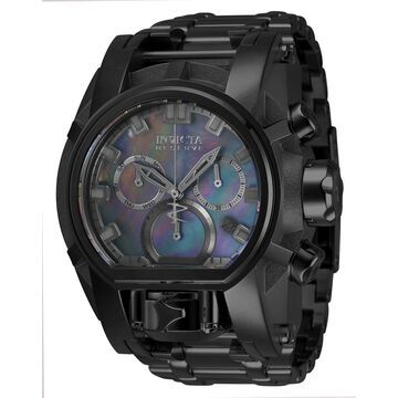 34307 Mens Reserve Quartz Chronograph Dial Watch, Black