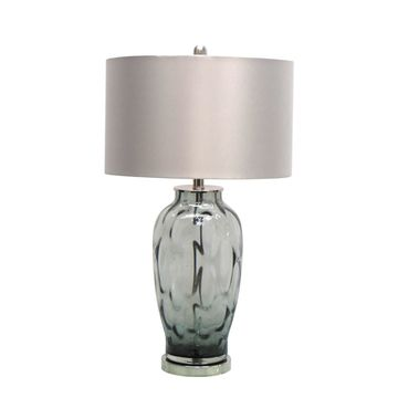 Jeco 26.5-inch Clear Glass Table Lamp