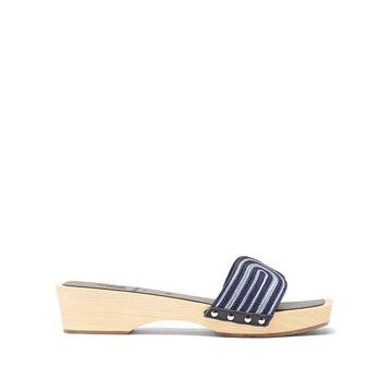 Ancient Greek Sandals - X Zeus + Dione The Harness Wooden-sole Slides - Womens - Blue