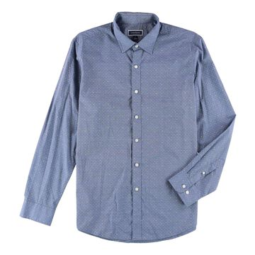 Club Room Mens Patterned Button Up Shirt