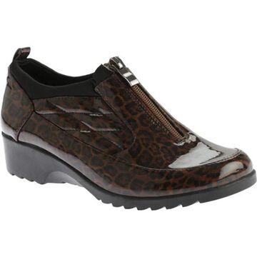 Beacon Shoes Women's Raindrop Shoe Leopard Patent Polyurethane