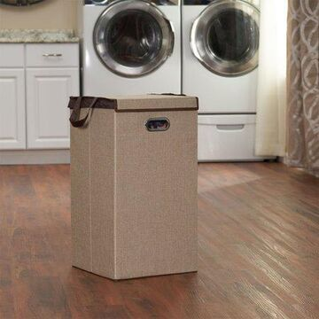 Household Essentials Collapsible Laundry Hamper, Sand