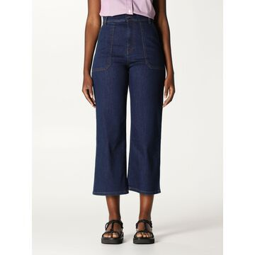 Fay cropped high-waisted jeans