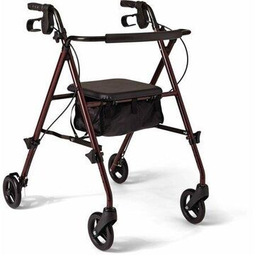 Medline Adjustable Height Rollator Walker, 6